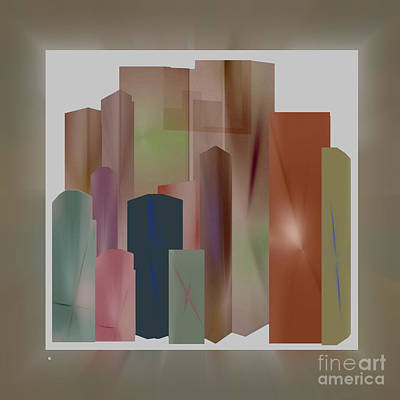 Abstract Realism Digital Art - The Block by John Krakora
