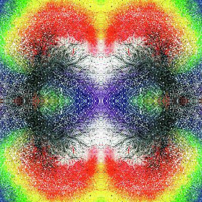 Joy Mixed Media - The Blossoms Of The Chakras #1486 by Rainbow Artist Orlando L aka Kevin Orlando Lau