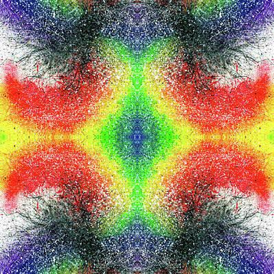 Joy Mixed Media - The Blossoms Of The Chakras #1487 by Rainbow Artist Orlando L aka Kevin Orlando Lau