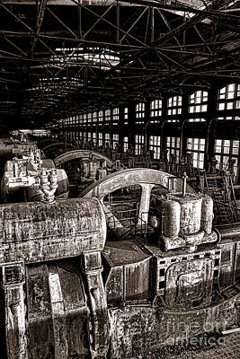 The Blower House At Bethlehem Steel  Art Print by Olivier Le Queinec