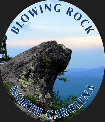 Photograph - The Blowing Rock T-shirt by Meta Gatschenberger