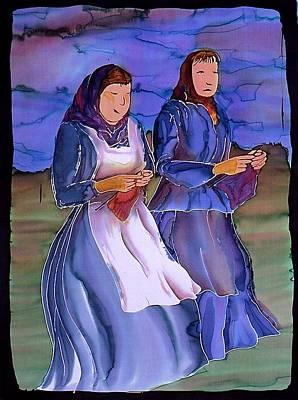 The Blowing Skirts Of Ladies Art Print by Carolyn Doe