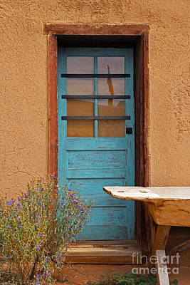 Old House Photograph - The Blue Adobe by Cheryl Aguiar
