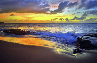 Photograph - The Blue And Gold Nights Of Molokai by Tara Turner