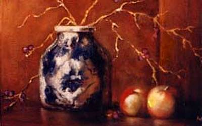 Painting - The Blue And White Vase by Jordana Sands
