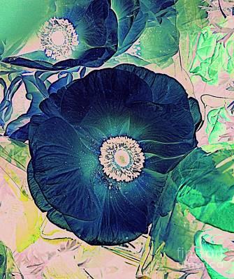 Digital Art - The Blue Anemone by Nancy Kane Chapman