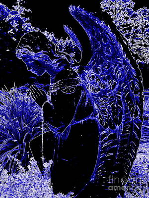 Digital Art - The Blue Angel by Ed Weidman
