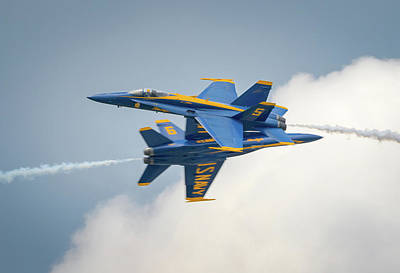 Photograph - The Blue Angels Close Pass by Brian Caldwell