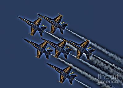 The Blue Angels Art Print by Corky Willis Atlanta Photography