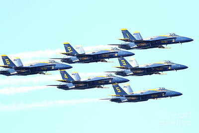 Jet Photograph - The Blue Angels Team 2 by Wingsdomain Art and Photography
