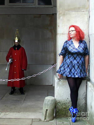 Photograph - The Blue Ballet Shoes And The Queen's Guard by Toula Mavridou-Messer