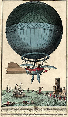 Drawing - The Blue Balloon by Vintage Pix