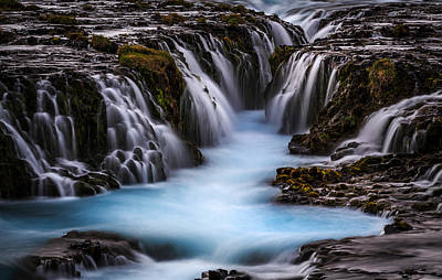 Waterfall Photograph - The Blue Beauty by Sus Bogaerts