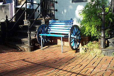 The Blue Bench Art Print