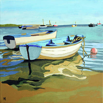 Painting - The Blue Boats by Melinda Patrick