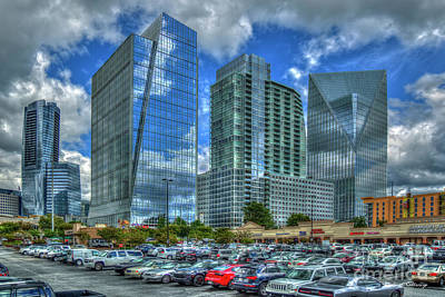 Photograph - The Blue Boys 2 Terminus Office Complex Reflections Buckhead Atlanta Art by Reid Callaway