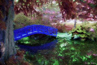 Digital Art - The Blue Bridge by Rein Nomm
