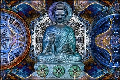 Magic Photograph - The Blue Buddha  by Daniel  Arrhakis