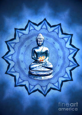 Digital Art - The Blue Buddha Meditation by Gabriele Pomykaj