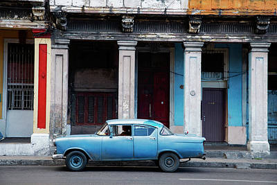 Photograph - The Blue Car by Yuri Santin