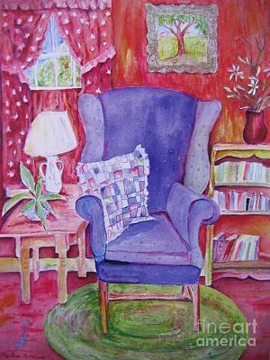 Painting - The Blue Chair by Marlene Robbins