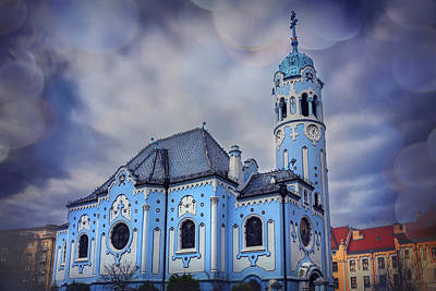 The Blue Church In Bratislava Slovakia Art Print by Carol Japp