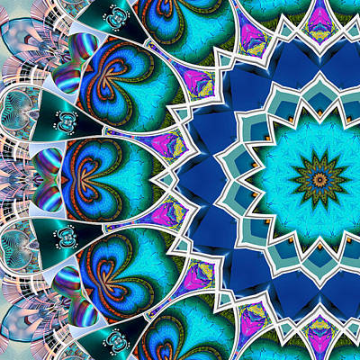 Digital Art - The Blue Collective 01b by Wendy J St Christopher