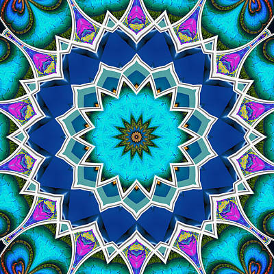 Digital Art - The Blue Collective 01c by Wendy J St Christopher