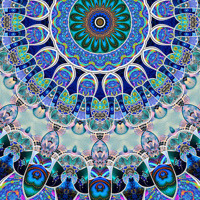 Digital Art - The Blue Collective 02b by Wendy J St Christopher