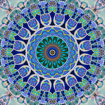 Digital Art - The Blue Collective 02c by Wendy J St Christopher