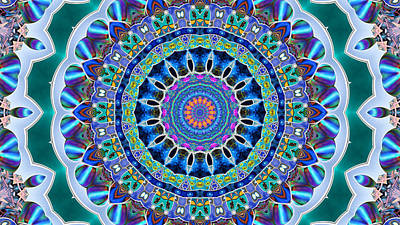 Digital Art - The Blue Collective 03a by Wendy J St Christopher