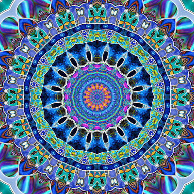 Digital Art - The Blue Collective 03c by Wendy J St Christopher