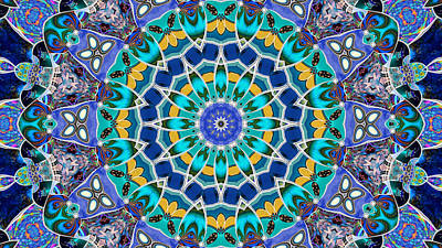 Digital Art - The Blue Collective 04a by Wendy J St Christopher
