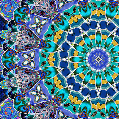 Digital Art - The Blue Collective 04b by Wendy J St Christopher