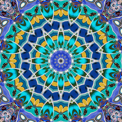 Digital Art - The Blue Collective 04c by Wendy J St Christopher