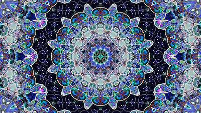 Digital Art - The Blue Collective 05a by Wendy J St Christopher