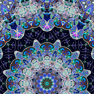 Digital Art - The Blue Collective 05b by Wendy J St Christopher