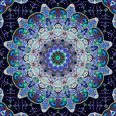 Digital Art - The Blue Collective 05c by Wendy J St Christopher