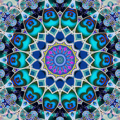 Digital Art - The Blue Collective 07 by Wendy J St Christopher
