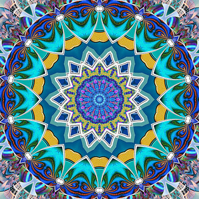 Digital Art - The Blue Collective 08 by Wendy J St Christopher