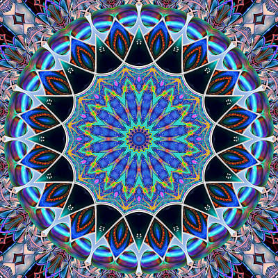 Digital Art - The Blue Collective 09 by Wendy J St Christopher