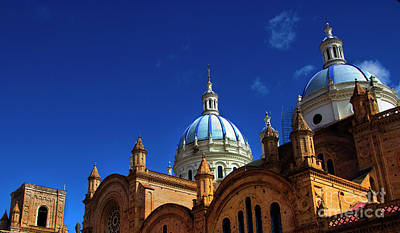Immaculate Photograph - The Blue Domes Of Cuenca, Ecuador by Al Bourassa
