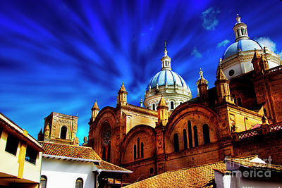 Immaculate Photograph - The Blue Domes Of Cuenca II by Al Bourassa