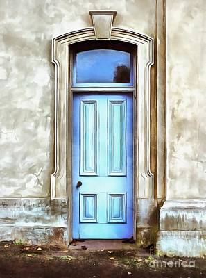 Painting - The Blue Door by Edward Fielding