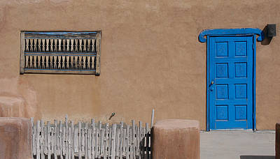 Art Print featuring the photograph The Blue Door by Gary Cloud