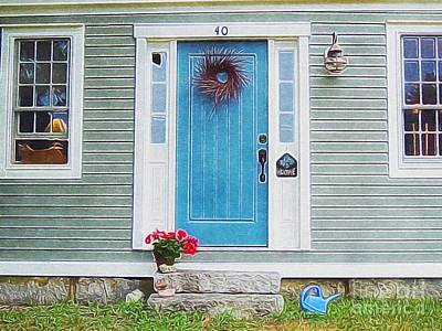 Painting - The Blue Door by Lisa Gilliam