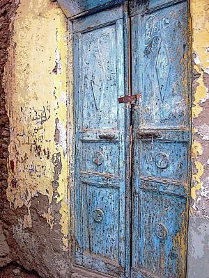 Photograph - The Blue Doors Nubian Village by Debbie Oppermann
