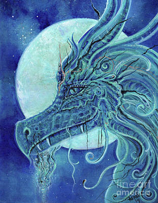 Painting - The Blue Dragon by Renee Lavoie