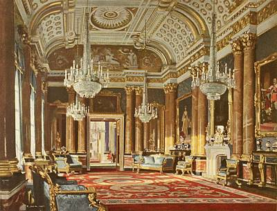 Ballroom Drawing - The Blue Drawing Room, Formerly The by Vintage Design Pics