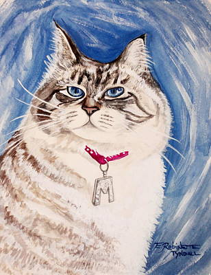 Painting - The Blue-eyed Ragdoll by Elizabeth Robinette Tyndall